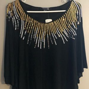 Forever 21 Sequined Knit Top